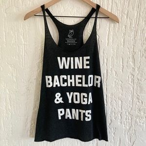 Clothing by Owl Bachelor Racerback Tank Size Small
